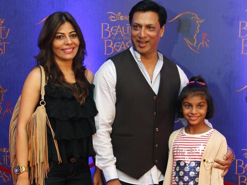 Bollywood filmmaker Madhur Bhandarkar and his family arrives with his wife and daughter.  (Solaris Images)
