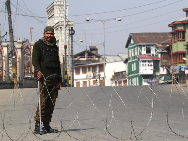 Normal life was disrupted in the Valley on Friday due to curfew-like restrictions in parts of summer capital Srinagar and south Kashmir's Anantnag district. (Waseem Andrabi/ HT )