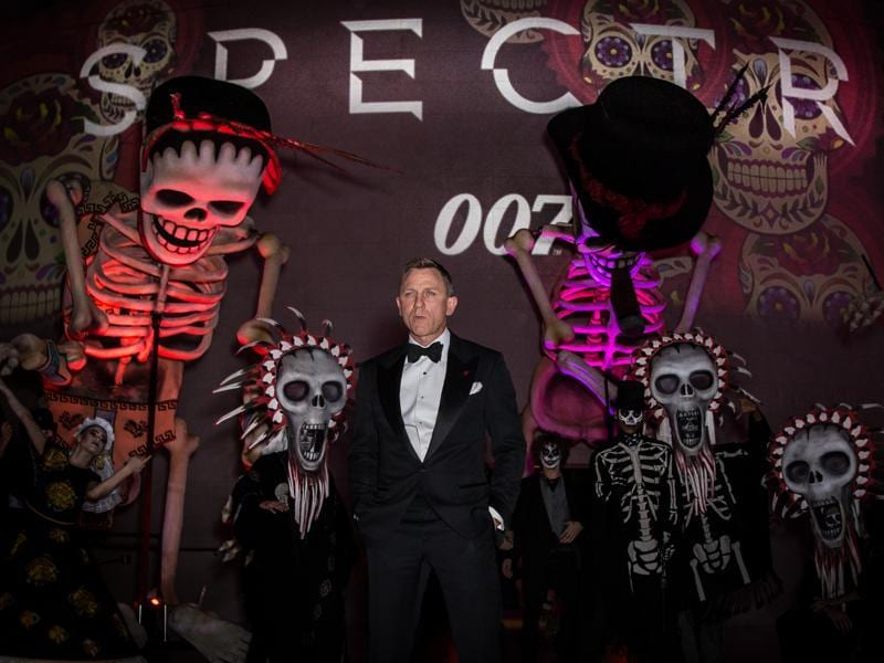 Daniel Craig poses for photographers upon arrival at the James Bond Spectre party in London. (AP)