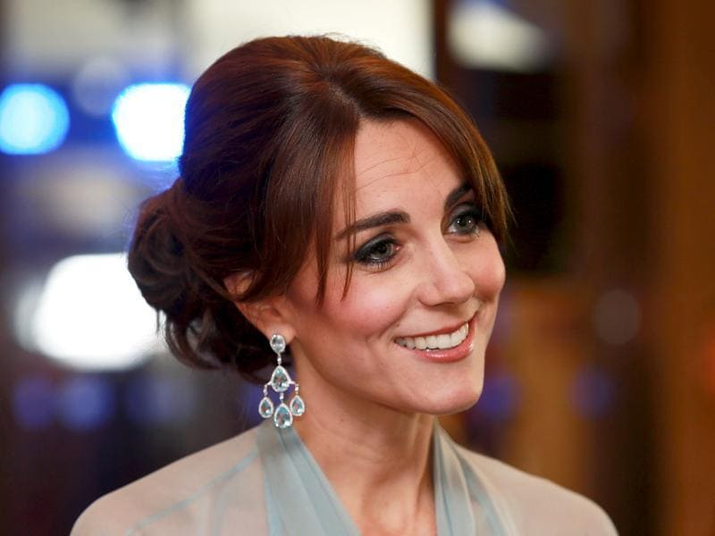Catherine, Duchess of Cambridge attends The Cinema and Television Benevolent Fund's Royal Film Performance 2015 of the new James Bond 007 film Spectre. (REUTERS)