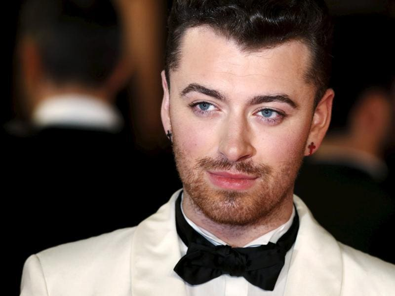 Singer songwriter Sam Smith poses for photographers on the red carpet at the world premiere of the new James Bond 007 film Spectre. (REUTERS)