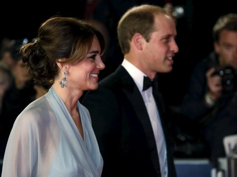Prince William (R) and Catherine Duchess of Cambridge attend the world premiere of the new James Bond 007 film Spectre at the Royal Albert Hall in London. (Reuters)