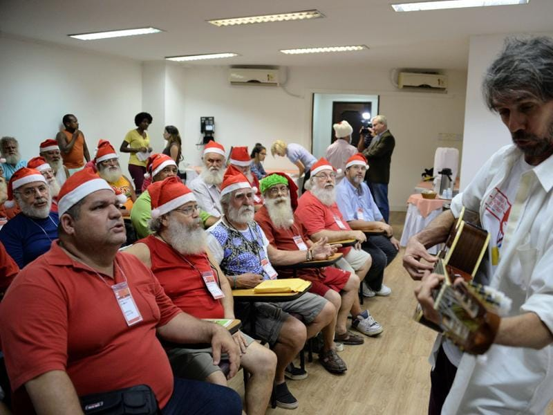 There is a huge demand for trained Santa Claus in Brazil. (AFP)