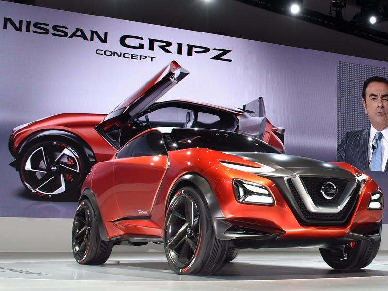 Nissan Motor displays the Nissan Gripz Concept at the company's booth at the Tokyo Motor Show 2015. Kicking off on October 28, the Tokyo Motor Show has a focus on cars that autonomous driving and  eco-friendly technologies, and a digital-savvy generation. (AFP)
