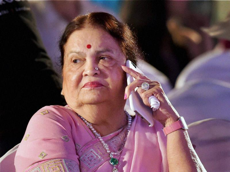 Industrialist Mukesh Ambani's mother Kokilaben Ambani at the opening ceremony of the MAMI Mumbai Film Festival. (PTI)