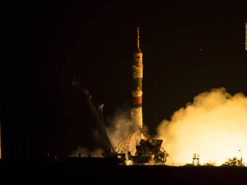 The Soyuz TMA-17M launched from the Baikonur Cosmodrome in Kazakhstan to the International Space Station at 5:02 p.m. EDT (3:02 a.m. on July 23 Baikonur time). (Photo courtesy: nasa.gov)