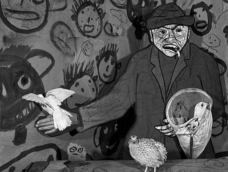 'Dove Catcher' (2009) from the series, Asylum of the Birds. (Roger Ballen and PHOTOINK)