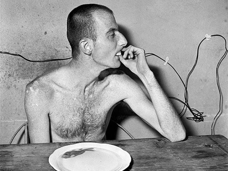 'Lunchtime' (1999) from the series, Shadow Chamber. (Roger Ballen and PHOTOINK)