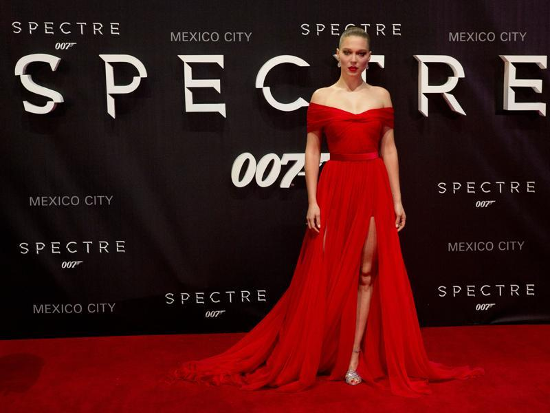 Actor Lea Seydoux arrives for the Mexico City premiere of the new Bond film Spectre. (AP)