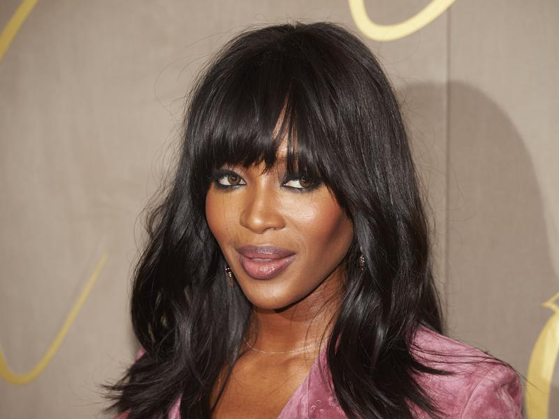 British supermodel Naomi Campbell at her dusky best at the Burberry festive film in London. (AFP)