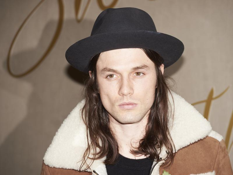 British musician James Bay channels Johnny Depp at the premiere of Burberry Festive Film in London. (AFP)
