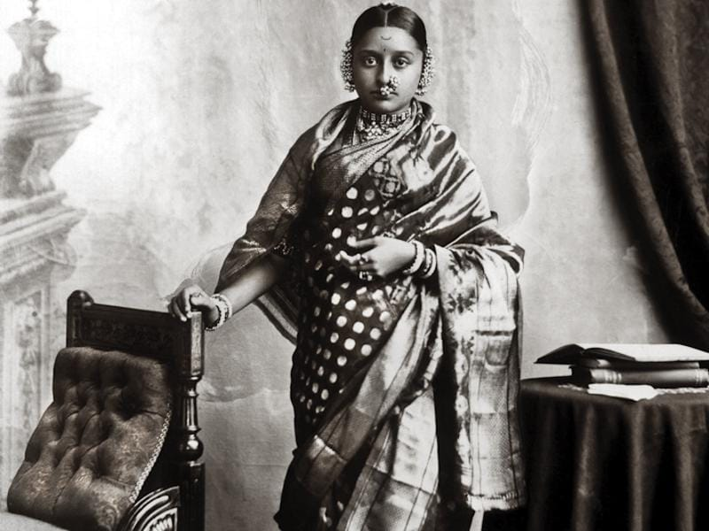 Maharani Chimnabai II of Baroda, née Shrimant Gajrabai Ghatge of Dewas Sr. Lala Deen Dayal, 1891. Married at a young age, she was encouraged by her husband to study. Due to her active work, Baroda was the first state to abolish purdah. She was the first president of the All India Women's Conference.  (Photos courtesy: MAP/Tasveer)