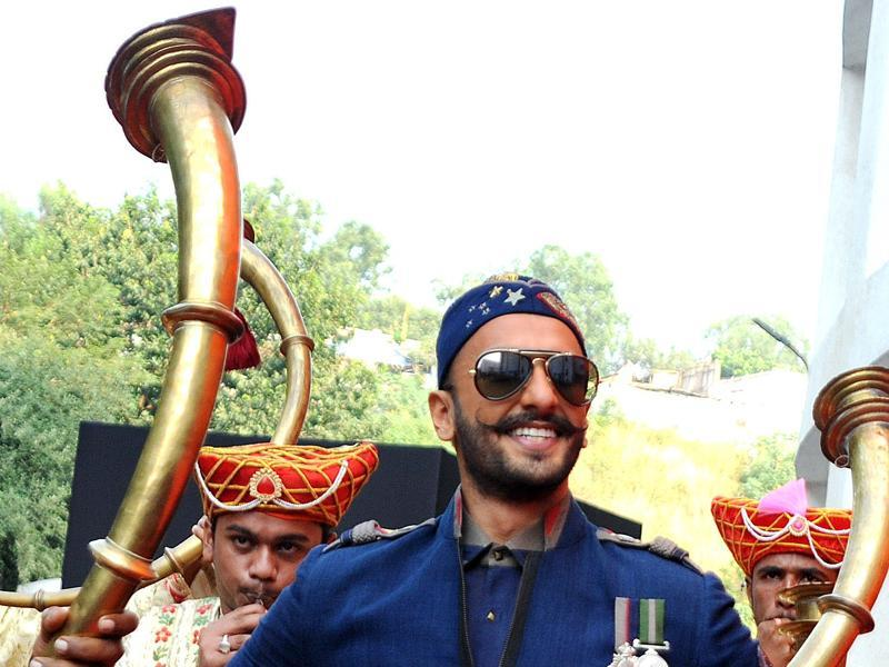 Ranveer Singh is elated as he gears up for the release of Sanjay Leela Bhansali's Bajirao Mastani  in Mumbai on November 4, 2015.  (AFP)