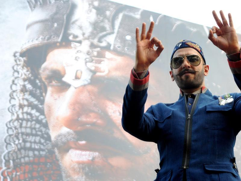 Ranveer Singh poses during the poster launch of Bajirao Mastani in Mumbai on November 4, 2015.  (AFP)