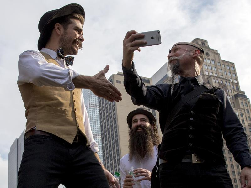 The participants are mostly from America, but beardsmen from all over the world are invited to compete. It is open to public.  (REUTERS)
