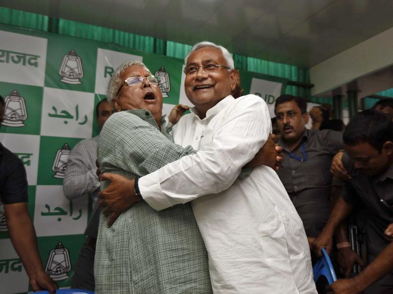 According to Arun Sinha, author of 'Nitish Kumar and the Rise of Bihar', what brought Lalu and Nitish some 40 years ago together during the socialist movement launched by Jayaprakash Narayan was their shared need for each other. (Arun Sharma/ HT Photo)