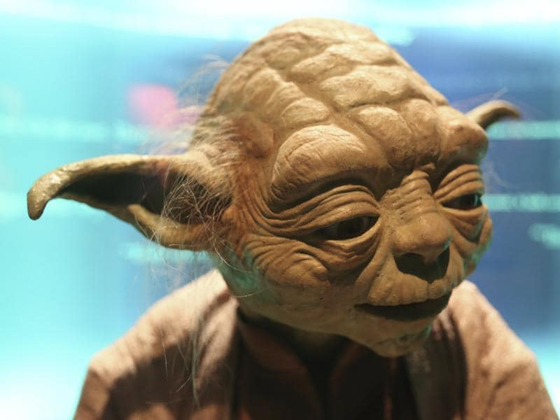 A Yoda character used in Star Wars movies is pictured at the Discovery Store Times Square in the Manhattan borough of New York.  (REUTERS)