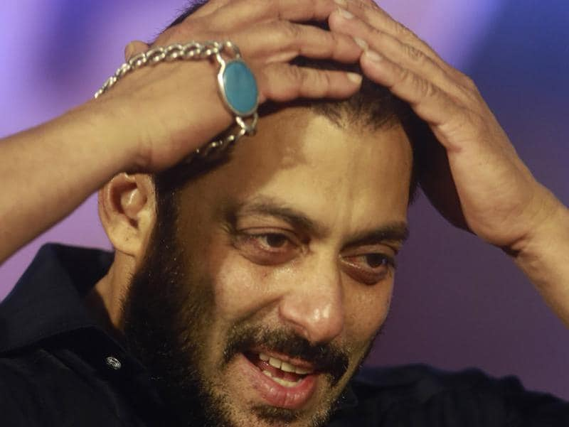 Promotions can be so tiring! Salman Khan at a promotional event for Prem Ratan Dhan Payo in Mumbai on Wednesday, Nov. 11, 2015.  (AP)