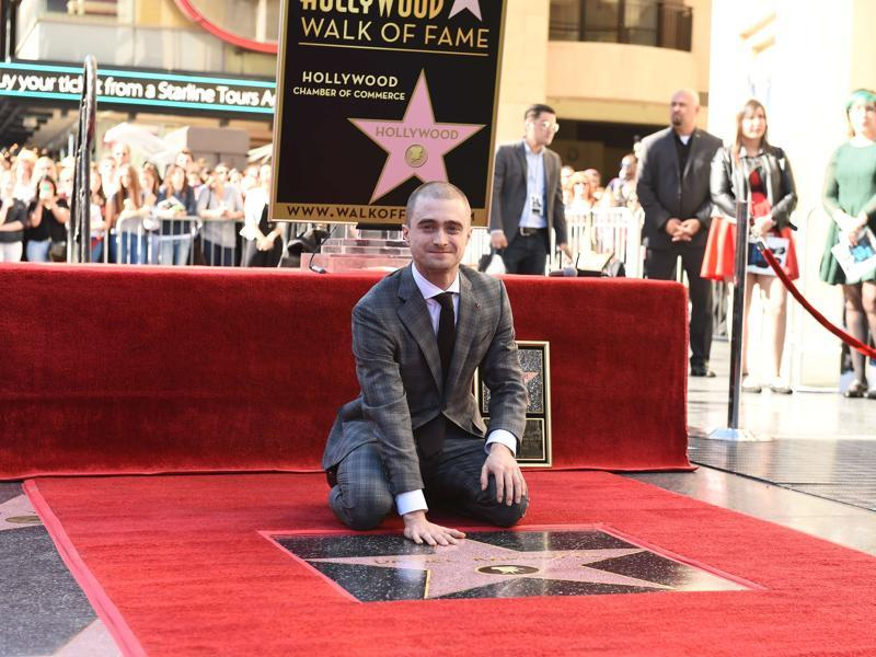 Actor Daniel Radcliffe receives a star on the Hollywood Walk of Fame. (AFP)