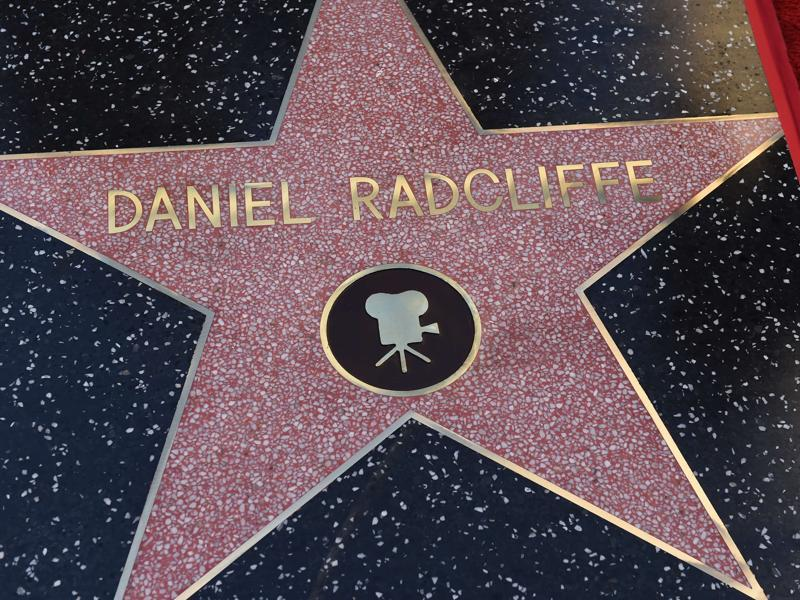 The star of Actor Daniel Radcliffe is seen on the Hollywood Walk of Fame. The British actor, best known for the role of Harry Potter, earned the Walk of Fame's 2,565th star, located in front of the Dolby Theatre on Hollywood Boulevard. (AFP)