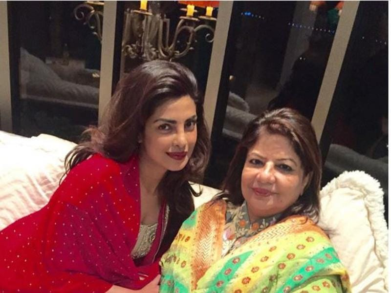 Priyanka Chopra and her mom celebrate Diwali together. (INSTAGRAM)