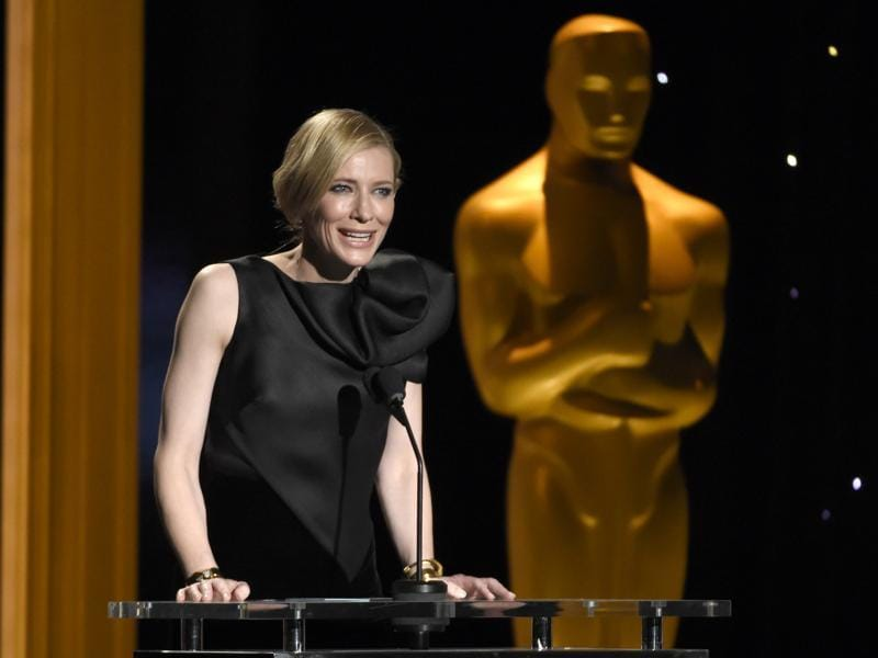 Cate Blanchett speaks onstage at the Governors Awards. (AP)