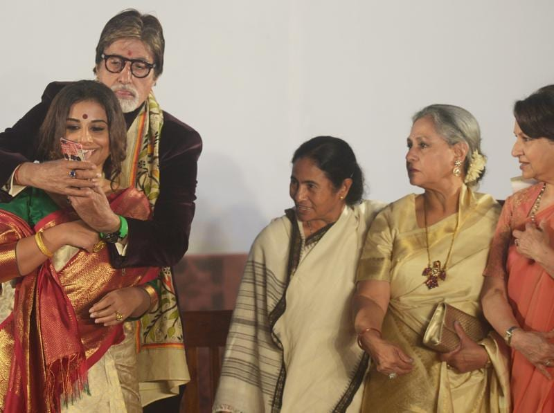 This is the first frame that Big B tried but Jaya Bachchan and Sharmila Tagore seem to have some suggestions to make. (AFP)
