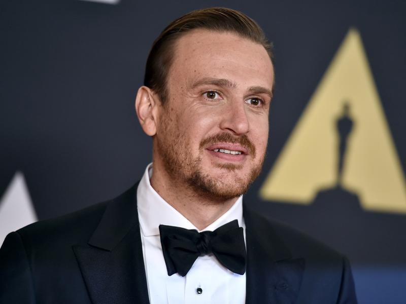 Jason Segel, an Oscar contender for The End of the Tour arrives at the Governors Awards at the Dolby Ballroom in Los Angeles. (AP)