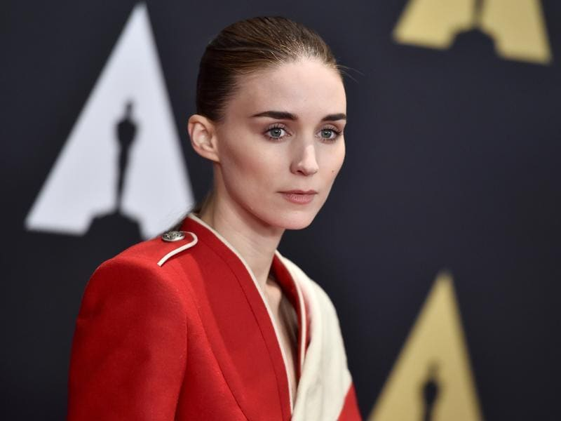 The Girl with the Dragon Tattoo Rooney Mara arrives at the Governors Awards red carpet. (AP)