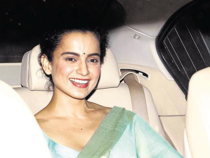 What we love about Kangana Ranaut's look is how she cuts the risk of looking dated by adding colour! (Text: Snigdha Ahuja) (INSTAGRAM)