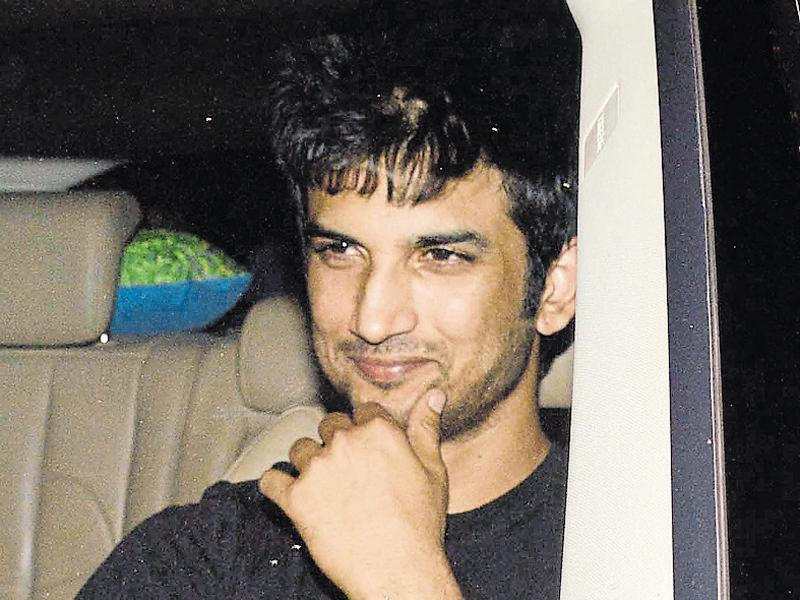 Sushant Singh Rajput was also spotted at the birthday party. (Photo: Yogen Shah/HT)