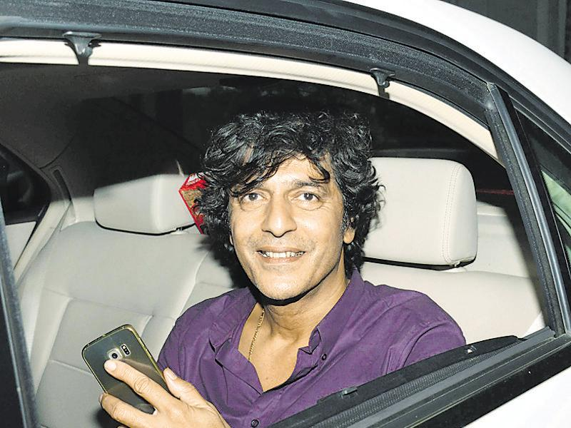 Chunky Pandey arrives at the birthday bash of Sania Mirza. (Photo: Yogen Shah/HT)