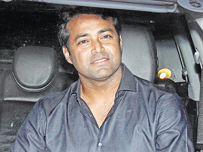 Leander Paes at Sania Mirza's birthday bash. (Photo: Yogen Shah/HT)