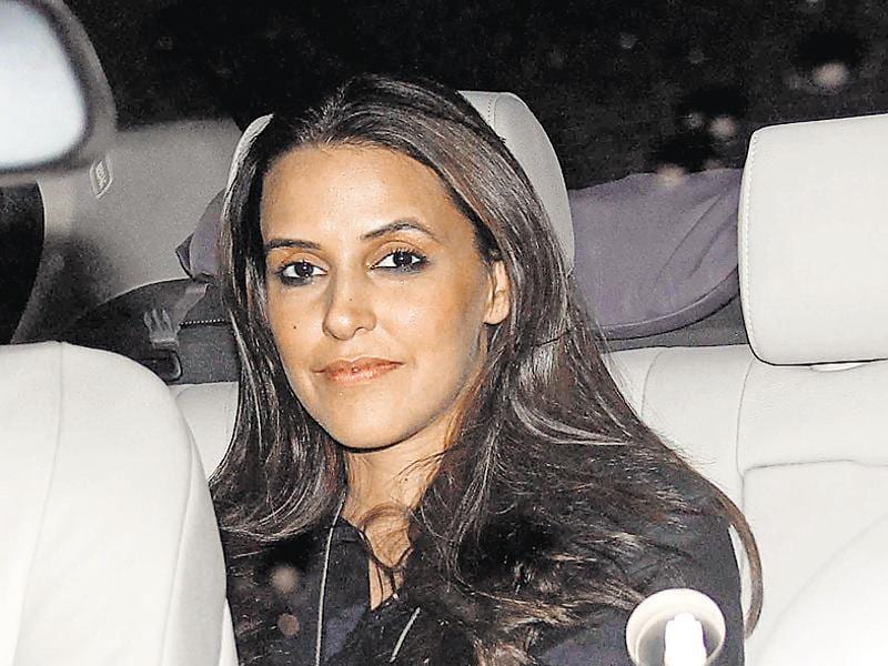 Neha Dhupia at Sania Mirza's birthday bash. (Photo: Yogen Shah/HT)