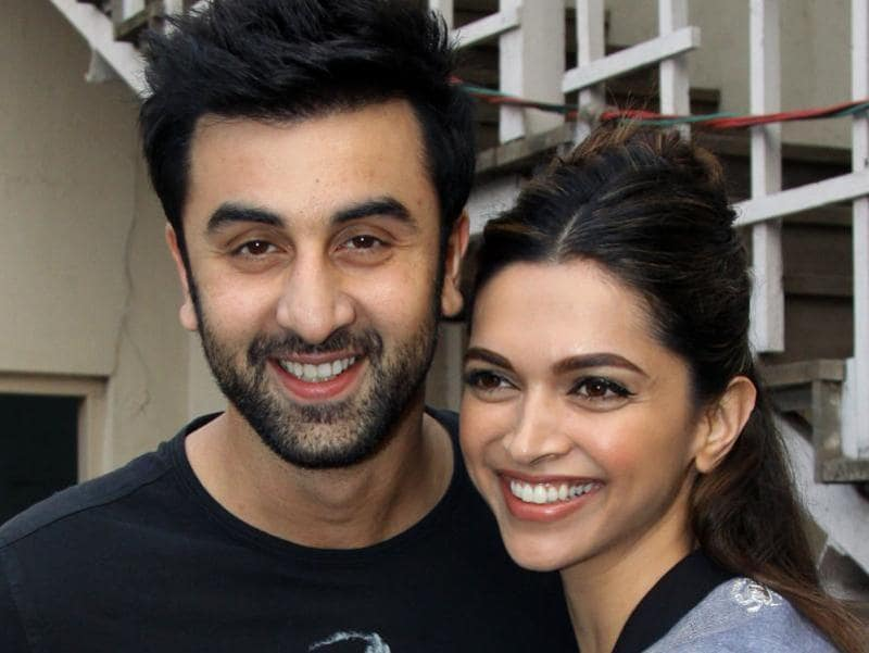 Ranbir Kapoor and Deepika Padukone attend a promotional event for Tamasha. (AFP)