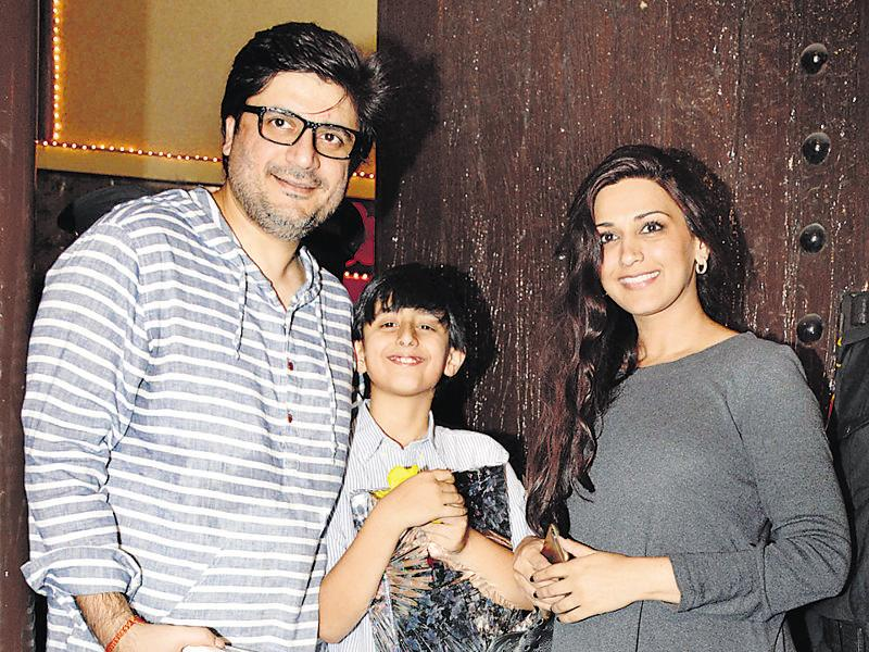 Goldie Behl and Sonali Bendre Behl with their son, Ranveer were also spotted at the party. (Photo: Yogen Shah)