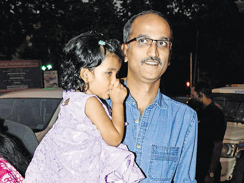 Rohan Sippy brought his daughter Inaya Sippy to Aaradhya's birthday party. (Photo: Yogen Shah)