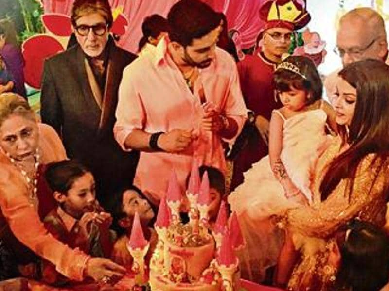 The Bachchan family celebrated Aaradhya's birthday with a grand princess-theme-party. Several Bollywood stars with their kids were in attendance at the bash. (HT City)