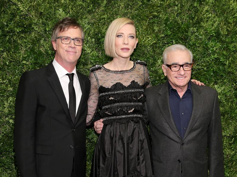 Todd Haynes, Cate Blanchett, and Martin Scorsese attend the Museum of Modern Art's 8th Annual Film Benefit honouring Cate Blanchett at the Museum of Modern Art. (AFP)