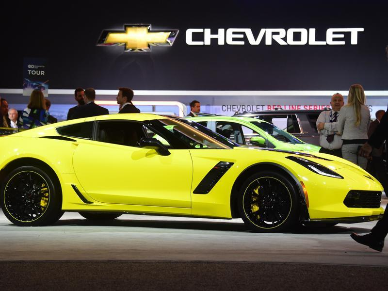 Ahead of  the Los Angeles Auto Show 2015, the 2016 Chevrolet Corvette Z06 C7R is displayed to media persons on in Los Angeles. You can own this... just at a minimum of $106,710 . (AFP)