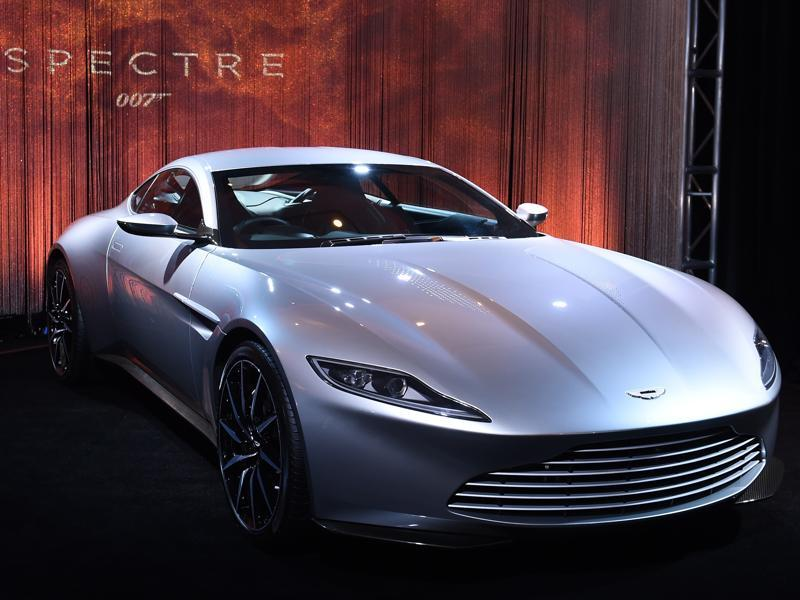 Aston Martin DB10, built exclusively for the latest James Bond film 'Spectre' at the 2015 Los Angeles Auto Show. This is the 11th car from Aston Martin for Agent 007, with an association of over 50 years. (AFP)