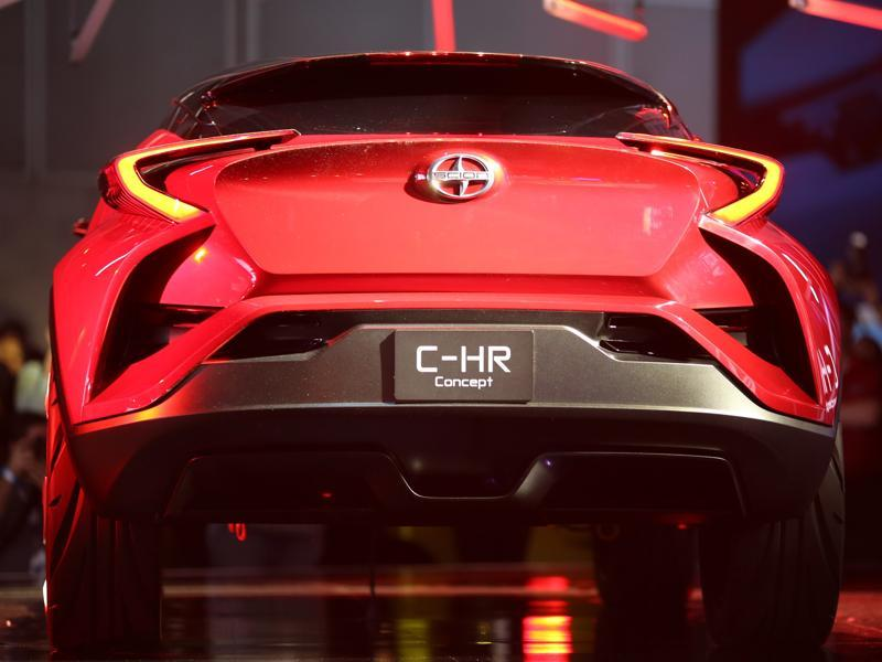 The Scion C-HR concept car is presented at the 2015 Los Angeles Auto Show. The LA Auto Show, which opens on November 20, was founded in 1907. (AFP)
