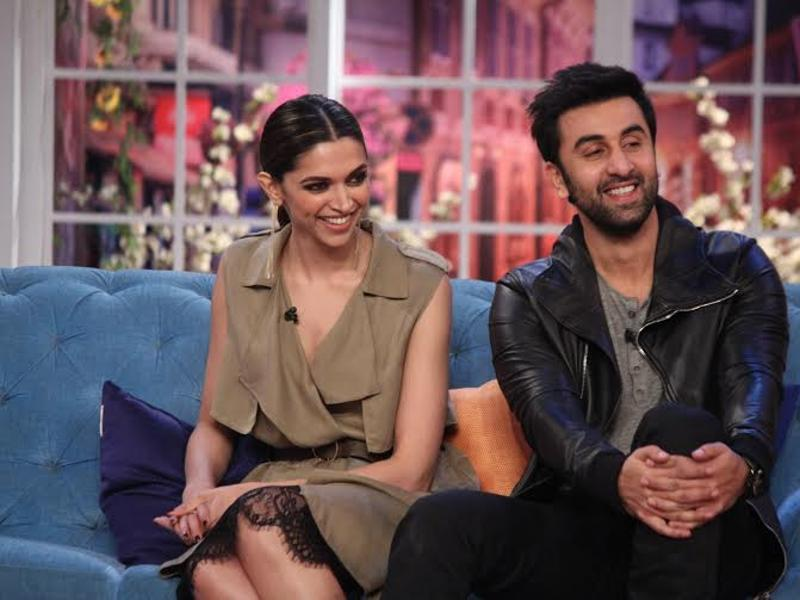 Deepika and Ranbir enjoy on the sets of Comedy Nights with Kapil. (COLORS)