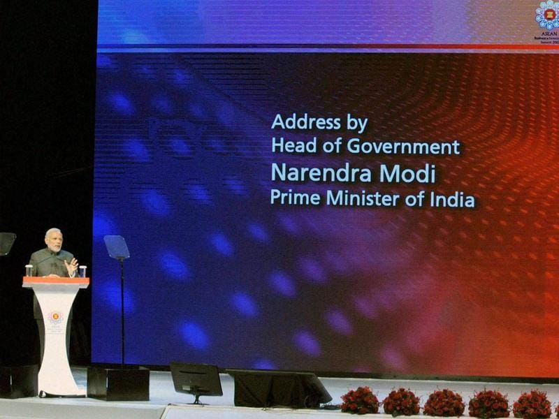 Prime Minister Narendra Modi addresses the ASEAN Business and Investment Summit 2015, in Kuala Lumpur. (PTI)