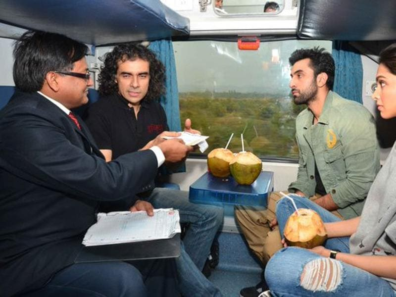 Imtiaz Ali and his Tamasha team on Suvidha Express, for promoting the film. The team arrived in Delhi on Monday morning. (Yogen Shah)