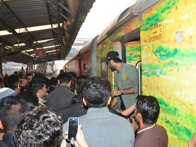 Tamasha team decided to promote their film in a unique way that is through a train journey. (Yogen Shah)