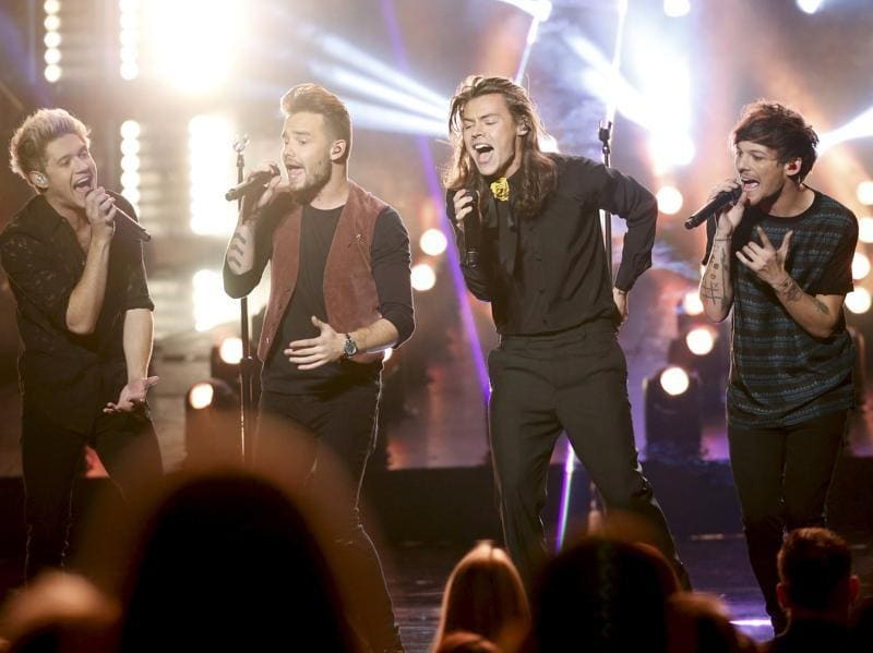 One Direction performing their song 'Perfect'.  (REUTERS)