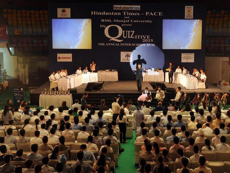 To test their general knowledge, students from over 400 schools from Delhi-NCR participated in the 15th consecutive year of INQUIZITIVE 2015' the Annual Inter-School PACE (Partnerships for Action in Education) Quiz, held at the Talkatora Indoor Stadium. (HT PACE)
