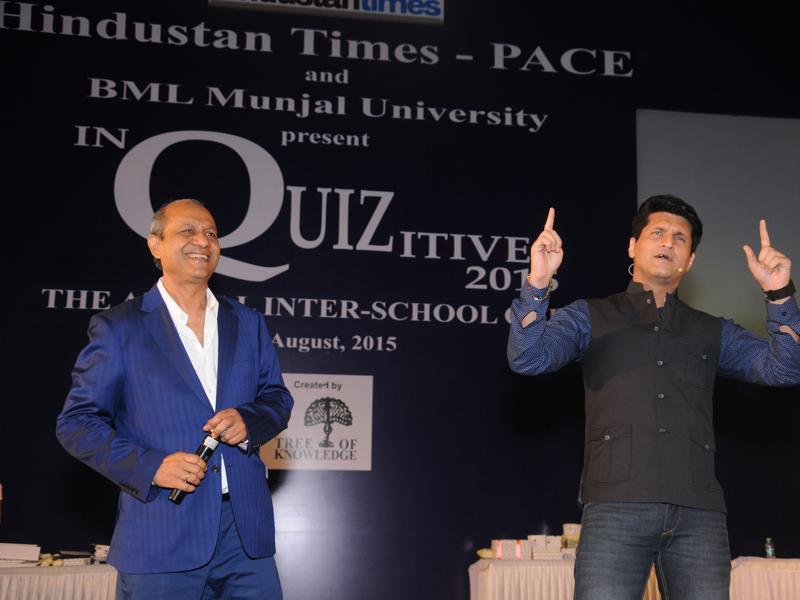 Created by 'Tree of Knowledge', the quiz was conducted by popular television anchor Rajiv Makhni. The highlight of the event was the celebrity round conducted by quizzing icon, Siddhartha Basu. (HT PACE)