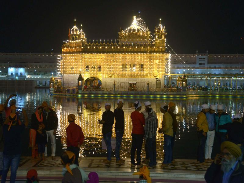Sikh pilgrims from different parts of the world attended religious rituals to pay their respect to the founder of Sikhism -- Sri Guru Nanak Dev.  (AFP Photo)